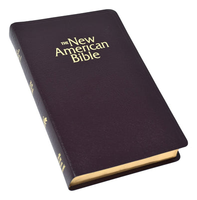 New American Bible (NAB) Deluxe Gift Bible (Bonded Leather) Burgundy - Unique Catholic Gifts