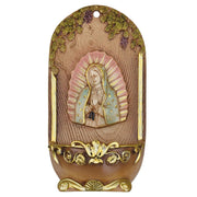 "Our Lady of Guadalupe Water Font (7"") - Unique Catholic Gifts"