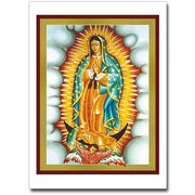 Our Lady of Guadalupe Icon Greeting Card - Unique Catholic Gifts