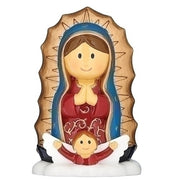 "Our Lady of Guadalupe Little Patron Figure 3 1/4"" - Unique Catholic Gifts"