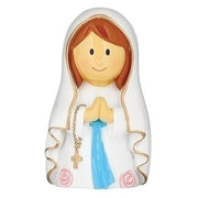 "Our Lady of Lourdes Little Patron Figure 3 1/4"" - Unique Catholic Gifts"