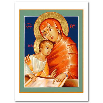 Our Lady the Teacher Icon Greeting Card - Unique Catholic Gifts