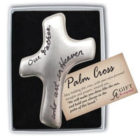 """Our Father"" Palm Prayer Cross"