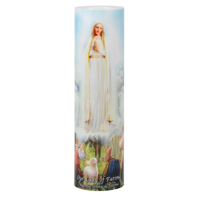 Our Lady of Fatima LED Candle Timer - Unique Catholic Gifts