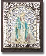 "Our Lady of Grace Italian Standing Plaque. (2 x 2 1/2"") - Unique Catholic Gifts"