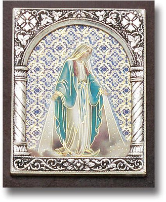 Our Lady of Grace Italian Standing Plaque. (2 x 2 1/2