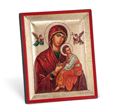 Our Lady of Passion Mini Icon Standing Plaque (3 x 2 1/2
