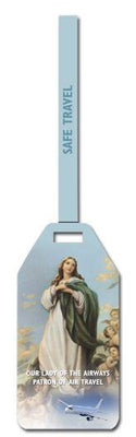 Our Lady of the Airway Flexible Poly Luggage Tags - Unique Catholic Gifts