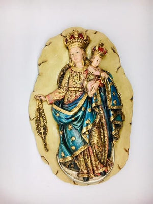 Our Lady of the Rosary Wall Plaque (11