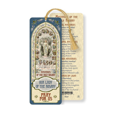 Our Lady of the Rosary Tasseled Bookmark