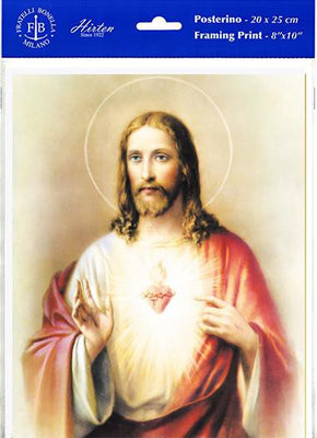 The Sacred Heart of Jesus Print 8 x 10