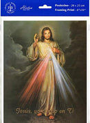 "Poster de la Divina Misericordia de Jesus 8""x10"" - Unique Catholic Gifts"