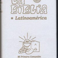 Biblia Latinoamérica para Primera Comunion, bolsillo, blanca - Unique Catholic Gifts