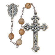 Picture Jasper Rosary (8 mm) - Unique Catholic Gifts