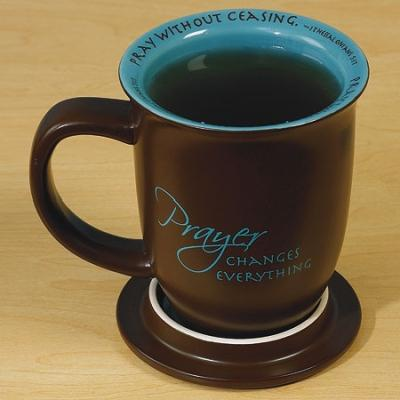 Prayer Changes Everything Mug and Coaster Set - Unique Catholic Gifts