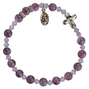 Genuine Amethyst Rosary Bracelet (6mm) - Unique Catholic Gifts