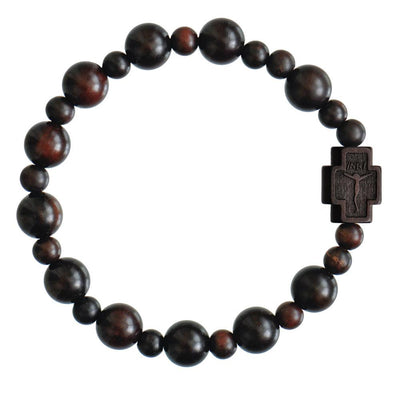Jujube Wood Rosary Bracelet (10 mm) - Unique Catholic Gifts