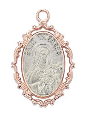 Rose Gold and  Sterling Silver Miraculous Medal ,Two Toned (3/4