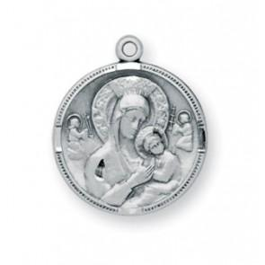 Our Lady of Perpetual Help Round Sterling Silver Medal