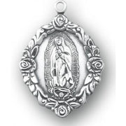 Our Lady of Guadalupe Sterling Silver Medal - Unique Catholic Gifts