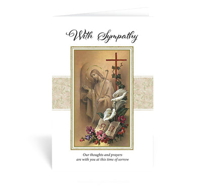 With Sympathy -Greeting Card - Unique Catholic Gifts