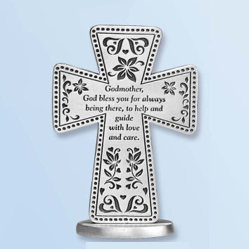 Godmother 3 Standing Message Cross Gift - Unique Catholic Gifts