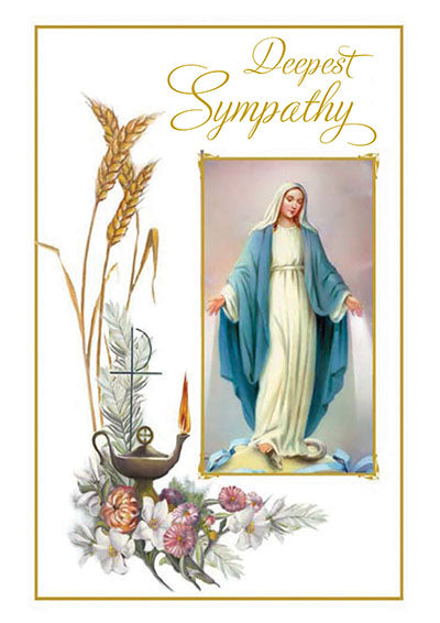 Deepest Sympathy Greeting Card - Unique Catholic Gifts