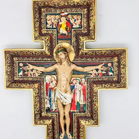 "San Damiano Wall Crucifix Plaque (11"")"