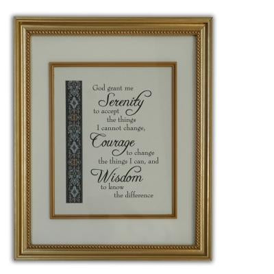 Serenity Prayer Wall Plaque (16 x 12