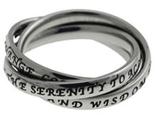 Lady's Serenity Prayer Triple Ring