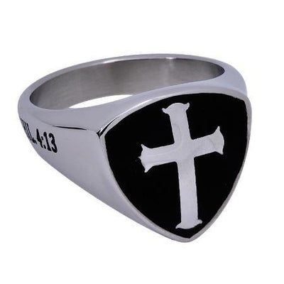 Shield Cross Ring,