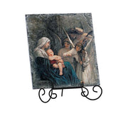 Song Of Angels Tile Plaque With Wire Stand - Unique Catholic Gifts