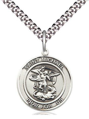 St. Michael the Archangel Round Medal (3/4