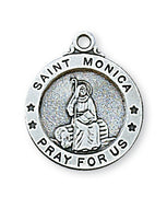 "St. Monica Medal Sterling Silver 5/8"" - Unique Catholic Gifts"