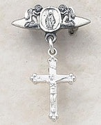 Sterling Silver Cross Pin