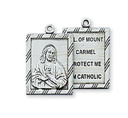 "Sterling Silver Scapular Medal (3/4"") - Unique Catholic Gifts"