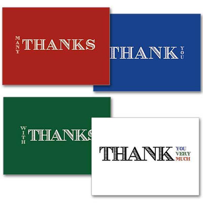 Jubilee Line  Thank You Note Card ( 3.5 x 4.875