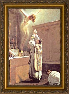 The Holy Sacrifice of the Mass Framed Art  (10 x 14