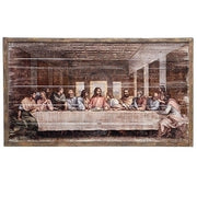 "The Last Supper Framed Wood Panel Picture  (21"" X 40"") - Unique Catholic Gifts"