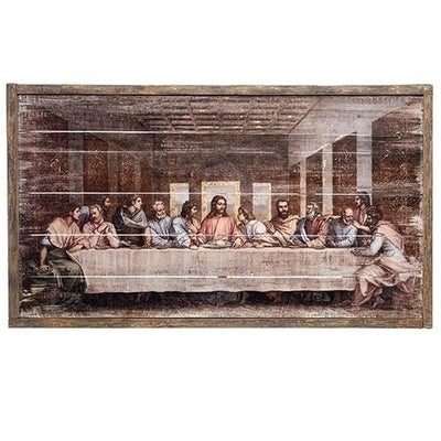The Last Supper Framed Wood Panel Picture  (21