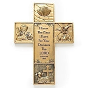 "The Sacraments Wall Cross (8 1/2"""") - Unique Catholic Gifts"