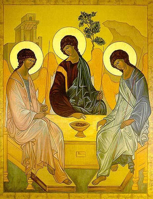 The Old Testament Trinity reproduction ICON on Wood (8
