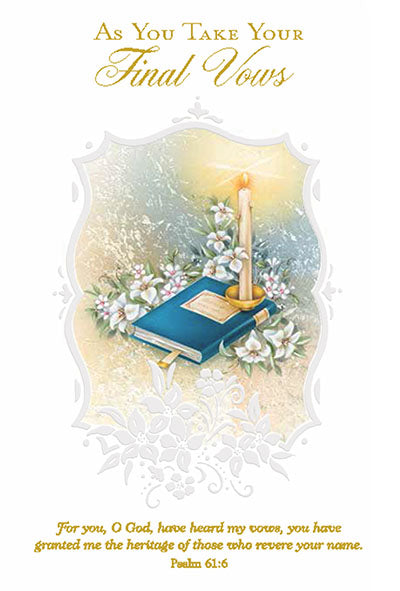 As Your Take Your Final Vows Greeting Card - Unique Catholic Gifts