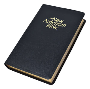 New American Bible (NAB) Deluxe Gift Bible (Bonded Leather) Black - Unique Catholic Gifts