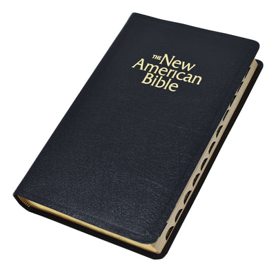 New American Bible (NAB) Deluxe Gift Bible (Bonded Leather) Black INDEXED - Unique Catholic Gifts