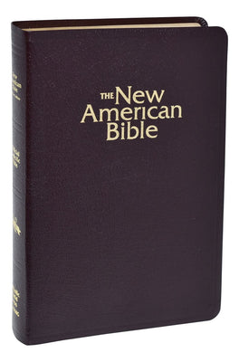 New American Bible (NAB) Deluxe Gift Bible (Bonded Leather) Burgundy