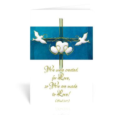 Created for Love Greeting Card - Unique Catholic Gifts