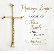 "3 Strands Marriage Prayer Standing Plaque (10"" x 10"") - Unique Catholic Gifts"