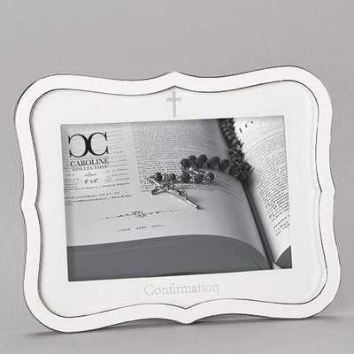 White Confirmation Picture Frame (6 1/2