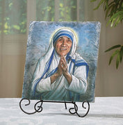 "Saint Teresa Arched Tile Plaque With Stand - Marco Sevelli 8 1/2"" - Unique Catholic Gifts"